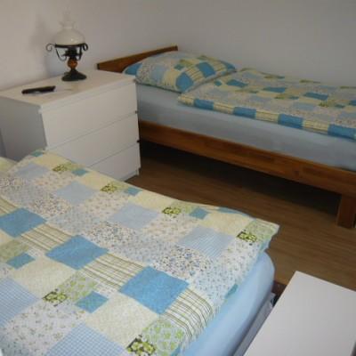 Zweibettzimmer des Familienzimmers