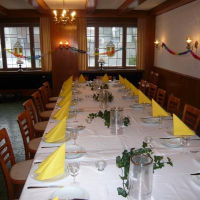 Beispiel für Tischschmuck